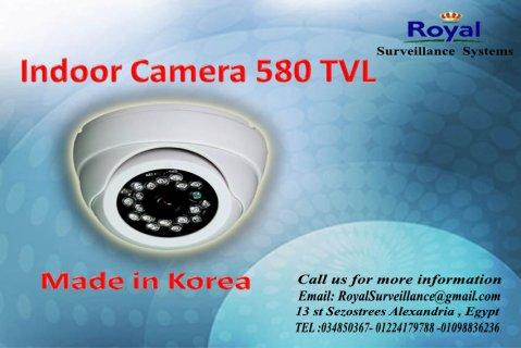 كاميرات مراقبة داخلية بجودة عالية TVL 580 فى الاسكندرية