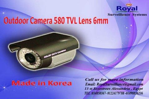 كاميرات مراقبة خارجية رائعة  TVL 580 6mm
