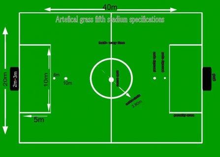 انشاء ملاعب كرة قدم نجيل صناعى