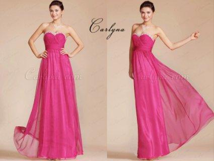 فستان السهرة الوردي الحارCarlyna