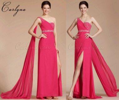 فستان السهرة الوردي الحار الجديد او فستان التخرج Carlyna