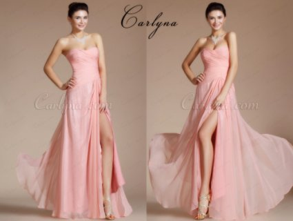 فستان وردي للبيعCarlyna 2014