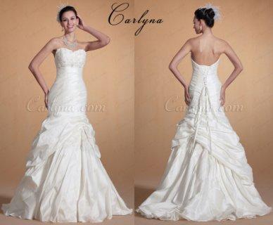 فستان الزفاف الجديد بعنتري الدانتيل Carlyna 2014