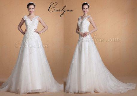 فستان الزفاف الجديد الحلو بحمالة الدانتيل Carlyna 2014
