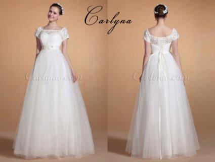 Carlyna فستان الزفاف الحلو الجميل الأنيق