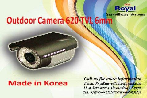 كاميرات مراقبة خارجية بجودة عالية 620TVL   6mm