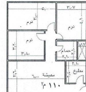 بحدائق الاهرام بمقدم 60000 تعاقد على 110م 3 غرف