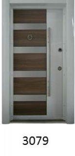 أبواب مصفحة تركية الصنع مغطى بـ 10 ملل خشب MDF من الداخل والخارج
