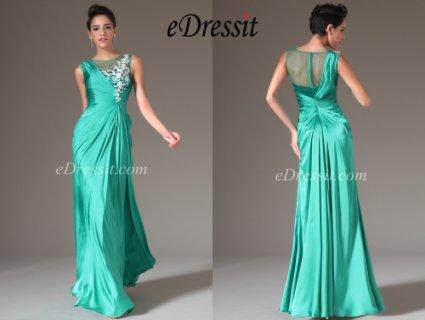 eDressit 2014 فستان السهرة الفيروز الامبراطوري الجديد بتطريز