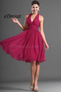 eDressit فستان الكوكتيل أو الحفلة البسيط برباط العنق