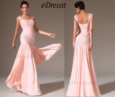 فستان السهرة الوردي الفاتح الجديد eDressit