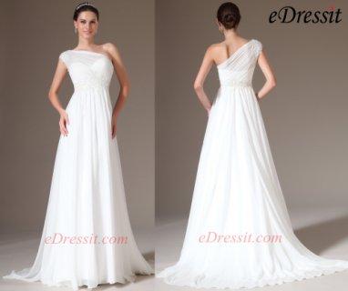 فستان زفاف الدانتيل الأنيق eDressit