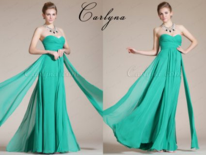فستان السهرة الأخضر الجديد Carlyna 2014