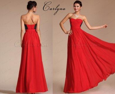 فستان سهرة الدانتيل الرائع الجديد عاري الكتف Carlyna 2014