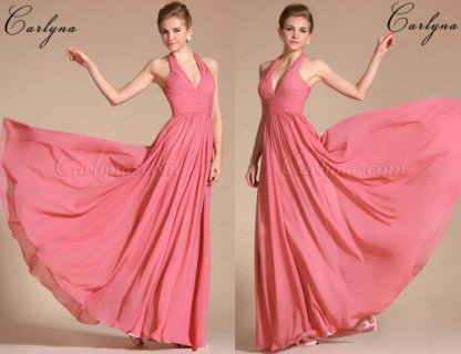 Carlyna  Elegant Halter Evening Dress