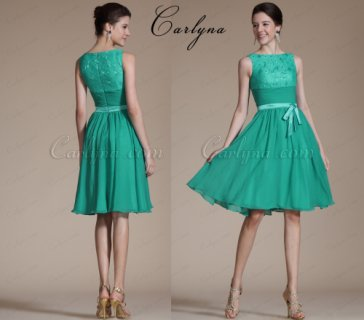 carlyna فستان سهره أخضر قصير للبيع