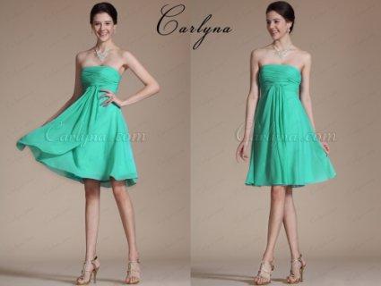 فستان الكوكتيل الحلو الجديد عاري الكتفCarlyna 2014