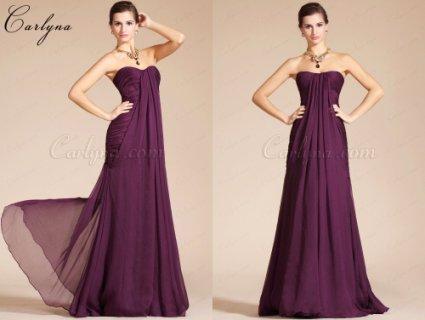 فستان السهرة البنفسيجي الرائع الجديد