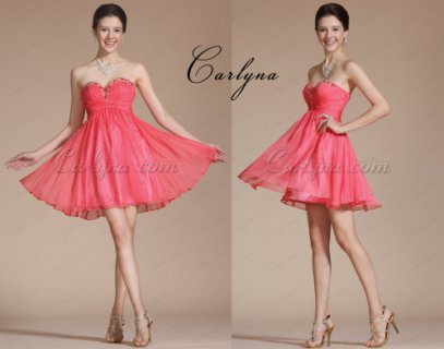 Carlyna Graceful Sweetheart Beadings dress