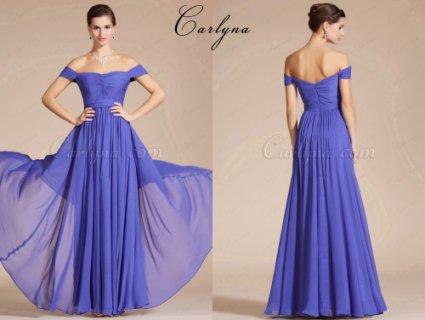 V فستان السهرة الرائع الجديد بياقةCarlyna 2014