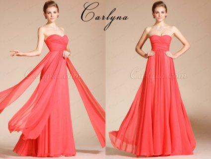 فستان السهرة المطوي الجديد