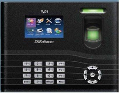ماكينة حضور وانصراف بالبصمة  والبطارية موديل IN01– ZK software -