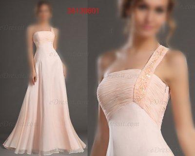 فستان وردي ناعمة للبيع