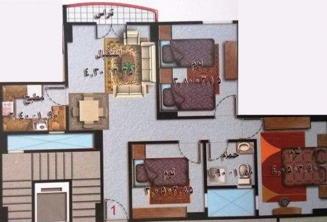شقة مميزة على أد الايد 3غرف ب75الف تقسيط