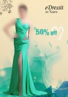 50%خصوم للفستان الأخضر في 20مايو