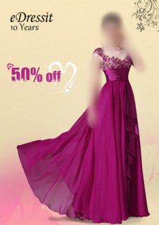 50%خصوم للفستان الوردي القاتم في 20مايو