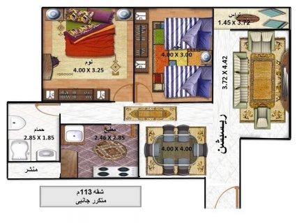 شقة استلام فورى بالتقسيط 112م كابيتال للتسويق العقارى