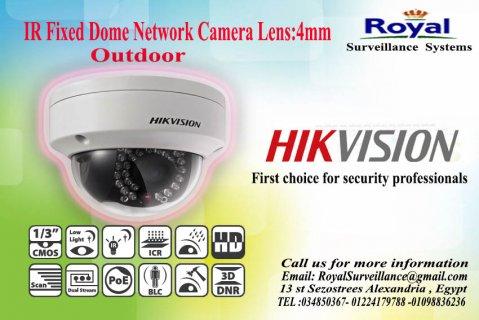أحدث كاميرات المراقبة IP الخارجية 1.3 megapixel بعدسة mm4