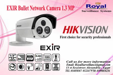 كاميرات المراقبة IP خارجية  1.3 megapixelتعمل بعدسات mm6