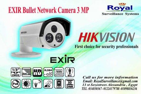 كاميرات المراقبة IP خارجية  3 megapixelتعمل بعدسات mm6