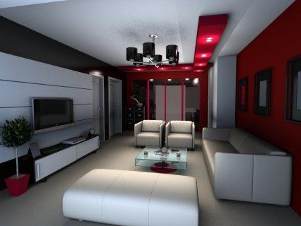 تصميم وتنفيذ ديكورات الشقق والفيلا - Interior Design  -.