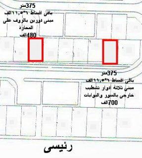 فيلات برج العرب الجديدة 2014 وجهتين 375متر