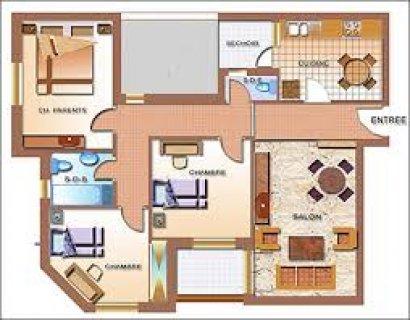 شقة ايجار امتداد مكرم عبيد 145 م قريبة من السراج مول