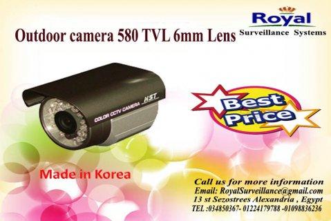 كاميرات مراقبة خارجية كورية  TVL 580 بعدسات 6mm