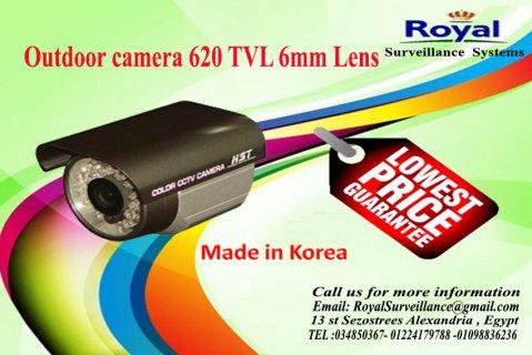 كاميرات مراقبة خارجية بجودة عالية TVL 620 كورية