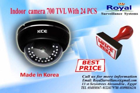 كاميرات مراقبة داخلية كورية بجودة رائعة700  TVL برؤية ليلية