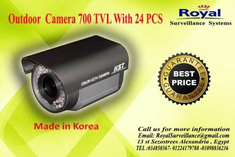 كاميرات مراقبة خارجية بجودة عالية 700  24pcs IR TVL