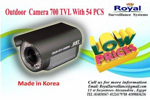 كاميرات مراقبة خارجية بجودة عالية 700 54 PCS  TVL