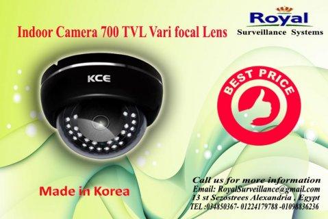 كاميرات مراقبة داخلية كورية بجودة رائعة700  TVL بعدسات متغييرة