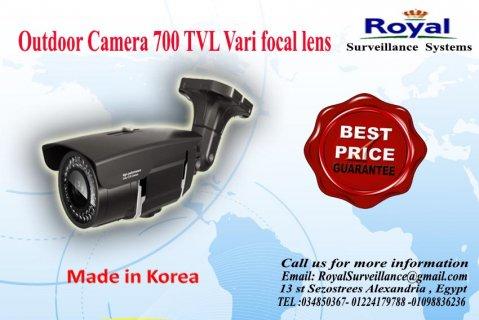 كاميرات مراقبة خارجية بجودة عالية 700TVL  بعدسات متغيرة
