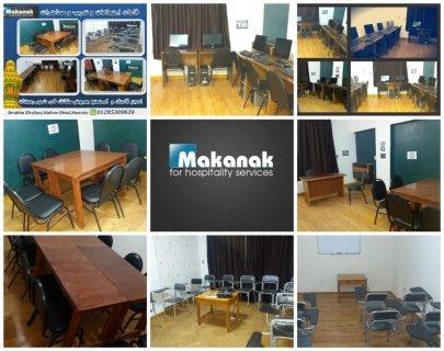 تأجير قاعات محاضرات وكورسات مجهزة بمعمل اجهزة.