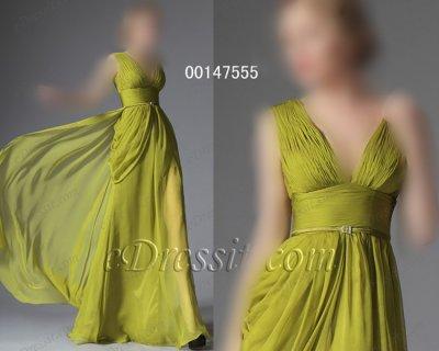 فستان أخضر فاتح شيك للبيع