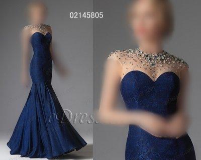 فستان أزرق أنيق شيك للبيع