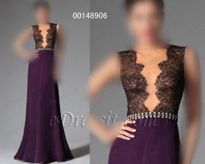 فستان أرجواني طويل أنيق للبيع
