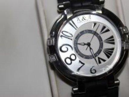 ساعة سويسري مرصعة بأربع فصوص ألماس جديدة بالكارتون الأصلي