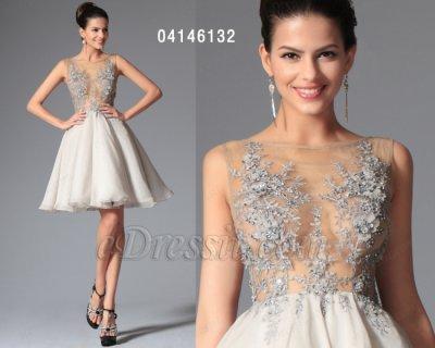 فستان الحفلة القصير الأنيق الشيك للبيع eDressit
